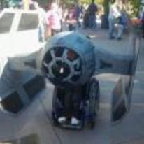 Currently trending funny picture tags: star-wars tie-fighter wheelchair costume halloween