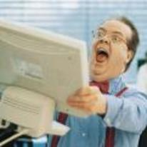 Radnom funny picture tags: stock-photo guy screaming holding-monitor YOSPOS