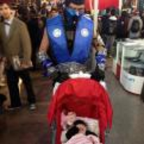 Radnom funny picture tags: sub-zero mortal-kombat cosplay baby babality