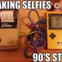 Radnom funny picture tags: taking-selfies 90s-style gameboy camera printer