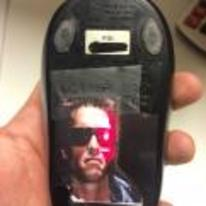 Radnom funny picture tags: terminator red-eye mouse laser prank