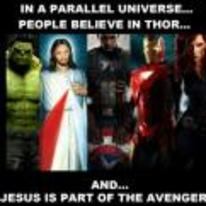 Currently trending funny picture tags: thor jesus avengers parallel-universe believe