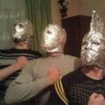 Radnom funny picture tags: tinfoil army high-af friends tinfoil-mask