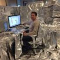 Radnom funny picture tags: tinfoil office prank desk chair