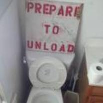 Radnom funny picture tags: toilet sign prepare-to-unload unload YOSPOS