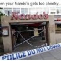 Radnom funny picture tags: when-your-nandos-gets-too-cheeky cheeky-nandos police-tape black-twitter closed
