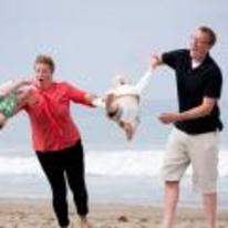 Radnom funny picture tags: woman accidentally throws baby beach