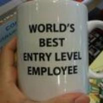 Radnom funny picture tags: worlds-best entry-level employee mug need