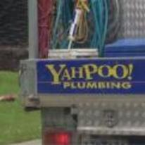 Radnom funny picture tags: yahpoo plumbing sign yahoo pun
